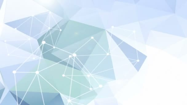 Abstract blue triangle vector background.