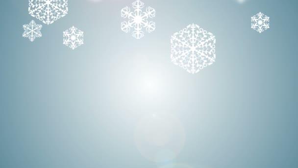 padající sněhové vločky na sněhu