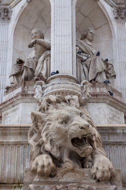 The lion Sculpture on the St Sulpice Fountain