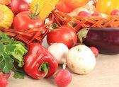 čerstvý pepř zelenina izolovaných na bílém pozadí