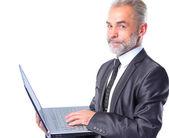 alte Geschäftsmann mit laptop