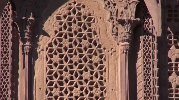 díszes palota falán Jodphur Meherangarh Fort, India