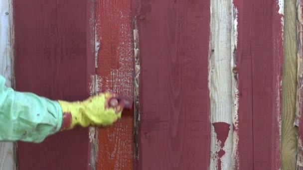 Muur Plank Voor Schilderijen.Schilderij Van Houten Plank Boerderij Huis Muur Met Penseel Borstel