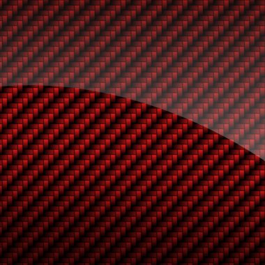 Red glossy carbon fiber background or texture