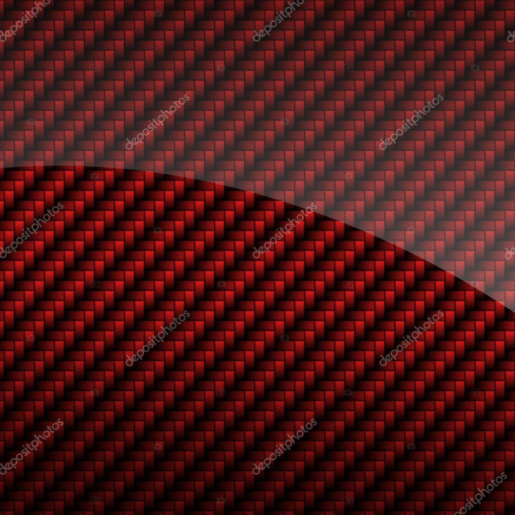 Red glossy carbon fiber background or texture — Stock ...