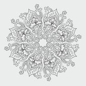 Photo Ornamental round floral lace pattern. kaleidoscopic floral pattern, mandala