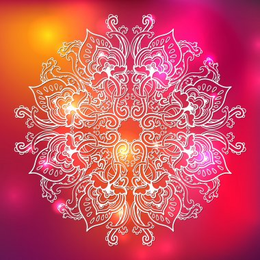 Ornamental floral lace pattern. kaleidoscopic rainbow floral pattern, mandala.