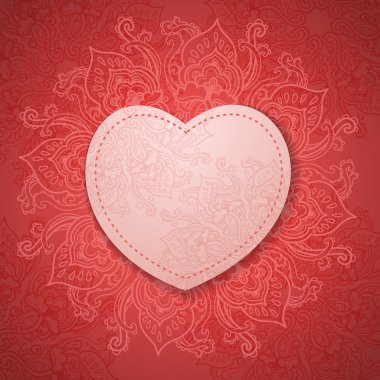 Gift Card. Valentine's day. Happy Valentine's Day frame. Valentine Day background