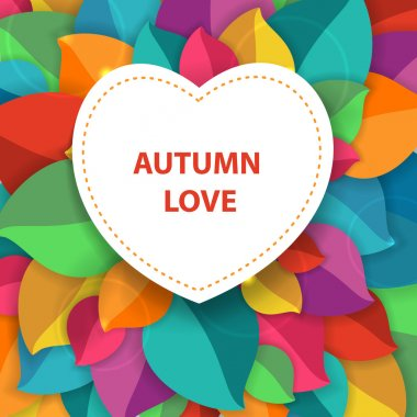 Autumn abstract vector background for fabric, web, print. rainbow colors will make fun of you