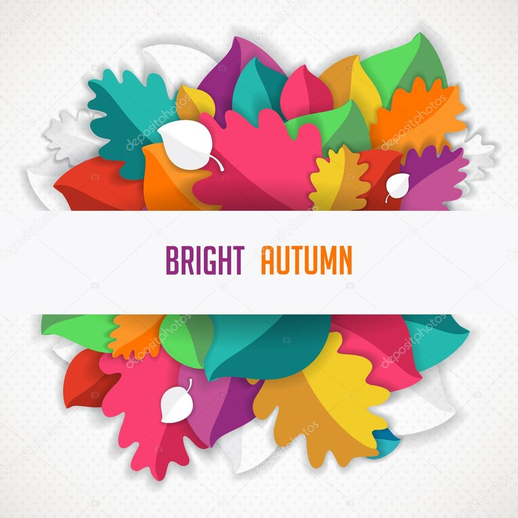 Autumn Abstract Vector Background Simple Shapes And