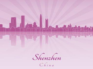 Shenzhen skyline in purple radiant orchid