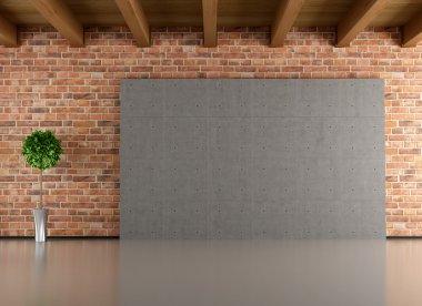 """Картина, постер, плакат, фотообои """"пустой минималистский интерьер """", артикул 12777479"""