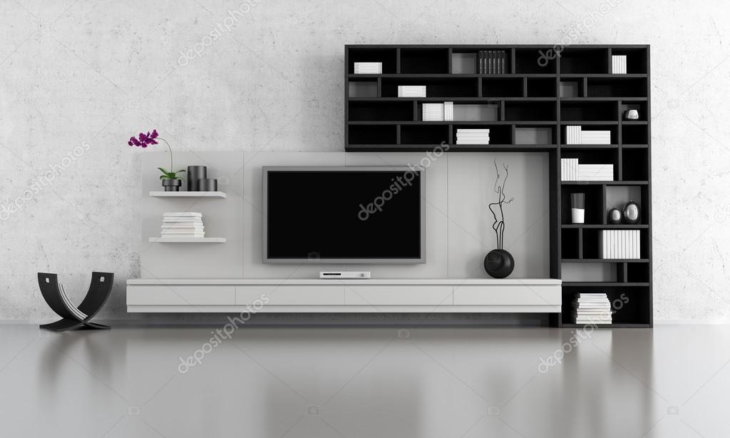 zwart-wit woonkamer — Stockfoto © archideaphoto #12778089