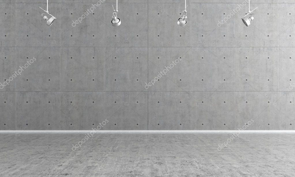 Empty concrete interior