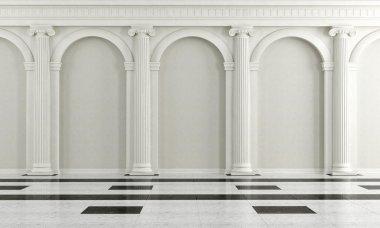 Black and white classic interior