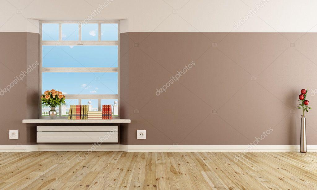 Empty modern interior with radiator u2014 stock photo © archideaphoto
