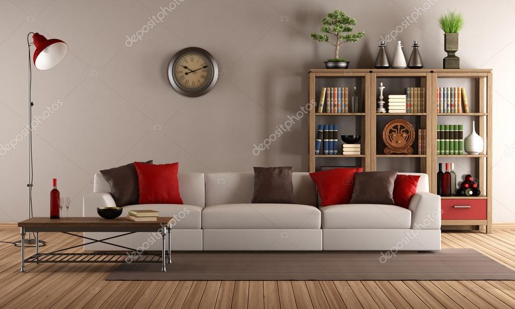 canapé moderne dans un salon vintage — Photographie archideaphoto ...