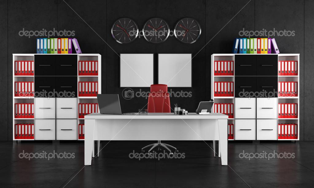 Bureau noir et blanc u photographie archideaphoto