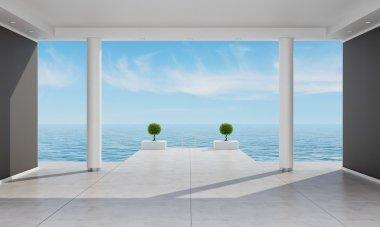 Interior of a holiday villa