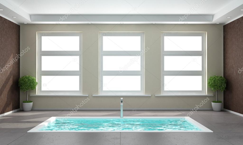 Bagni moderni con vasca bagno moderno di lusso con vasca - Vasca interrata ...