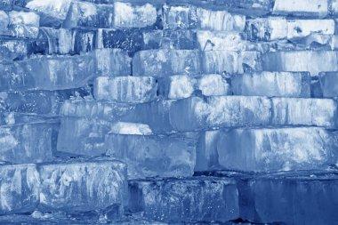 ice blocks in river
