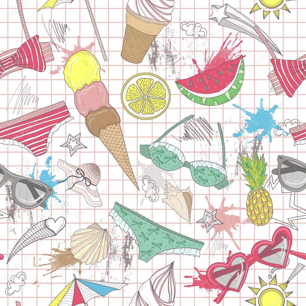 patrón abstracto lindo verano. patrones sin fisuras con trajes de ...
