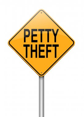 Petty theft concept.