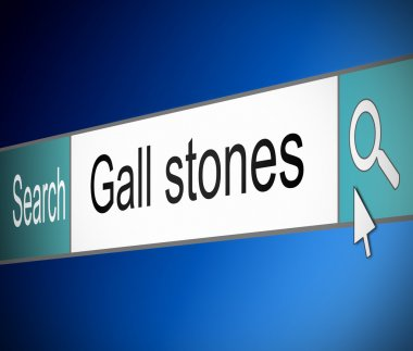 Gall stones concept.