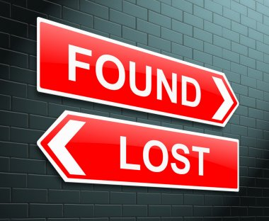 Lost or found concept.