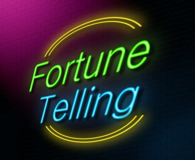 Fortune telling concept.