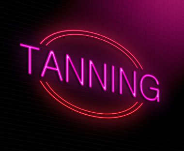 Tanning concept.