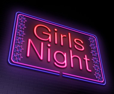 Girls night concept.