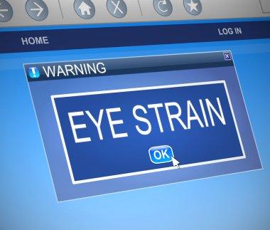 Eye strain concept.