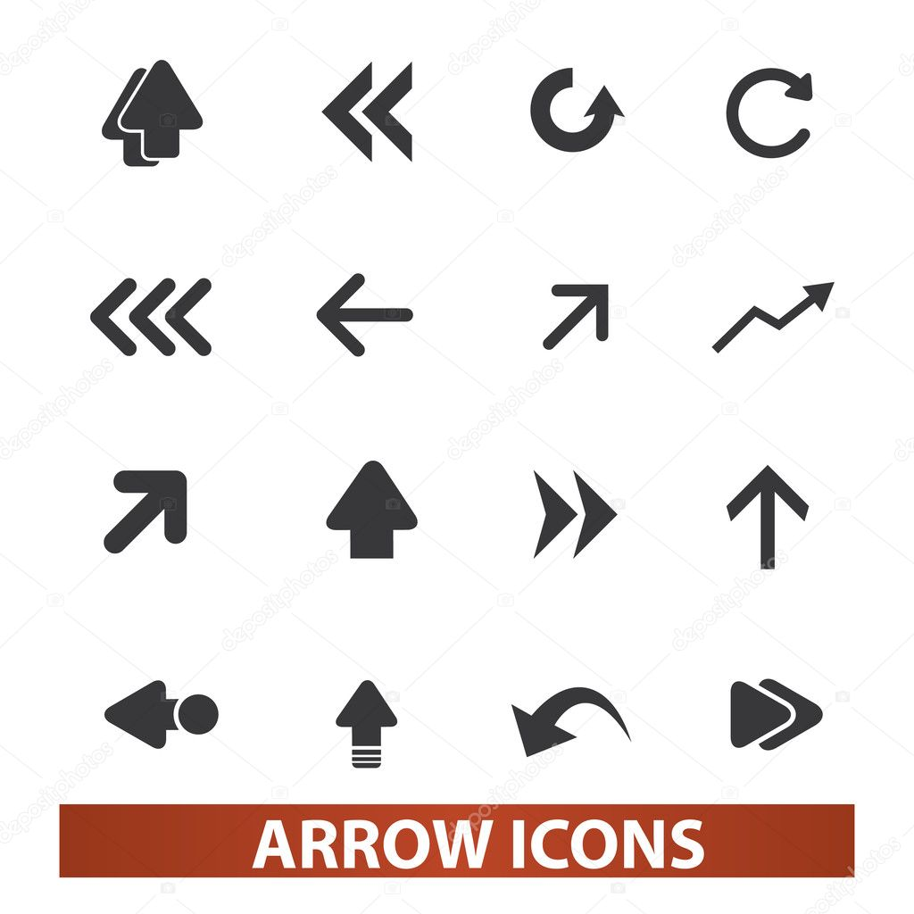 Arrow icons, signs set, vector for web and mobile design