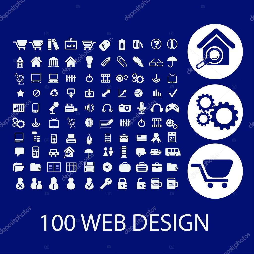 100 web design icons