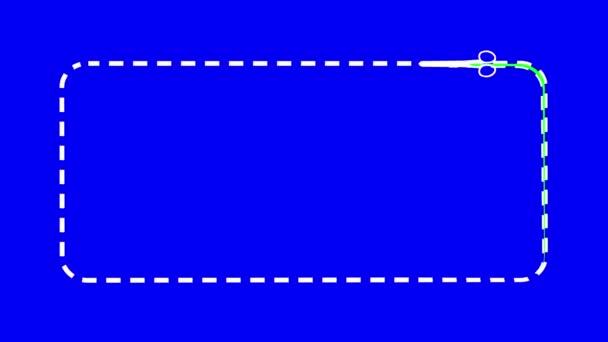 olló. zöld képernyő és a kék képernyő-intro