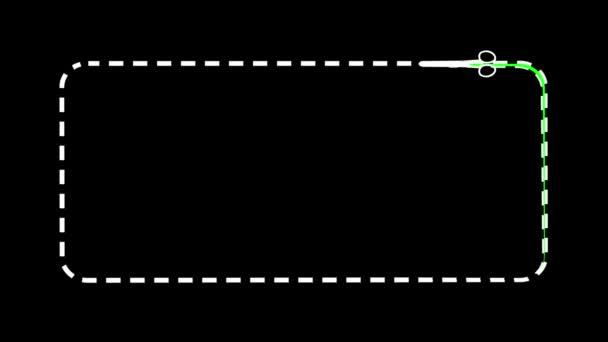 olló. zöld képernyő. intro