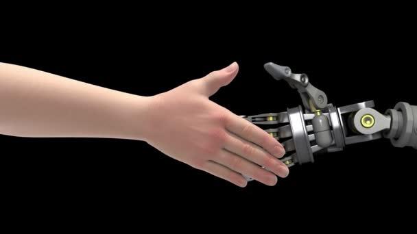 potřást rukou s robotem