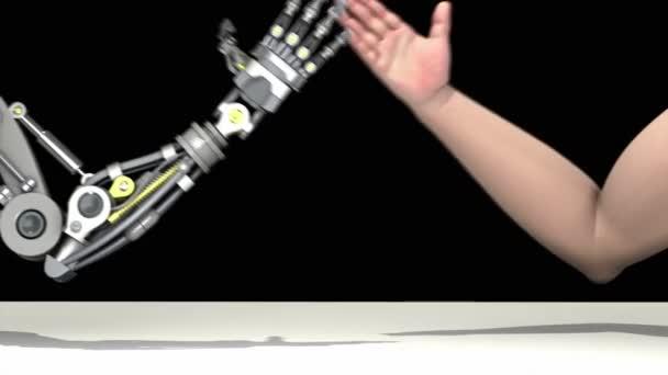 kar birkózás. Man vs robot. ember nyer