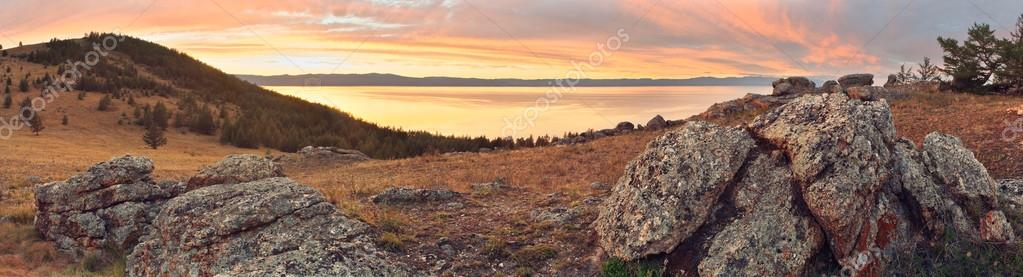 Panorama of coast