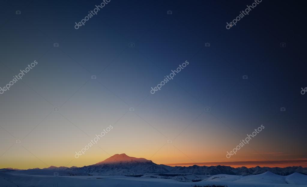 Mountain Elbrus at dawn