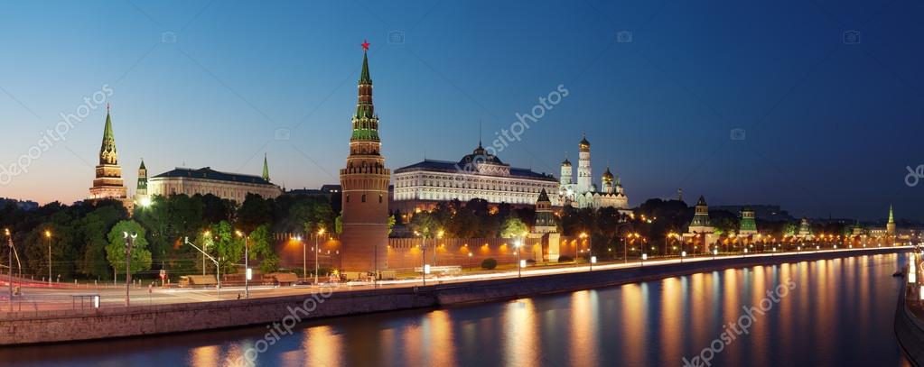 Panoramic view at the Moscow Kremlin