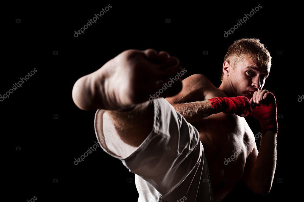 studio portrait of fighter