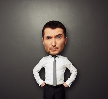 picture of businessman with big head