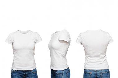 mannequin in blank white t-shirt