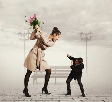 quarrel between the man and the woman