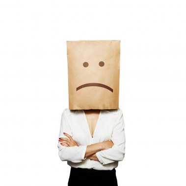 businesswoman have a bad mood