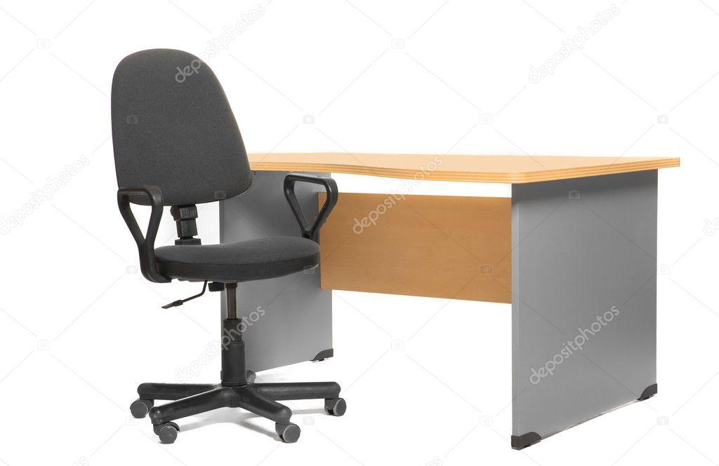 Bureau en stoel u stockfoto tpabma
