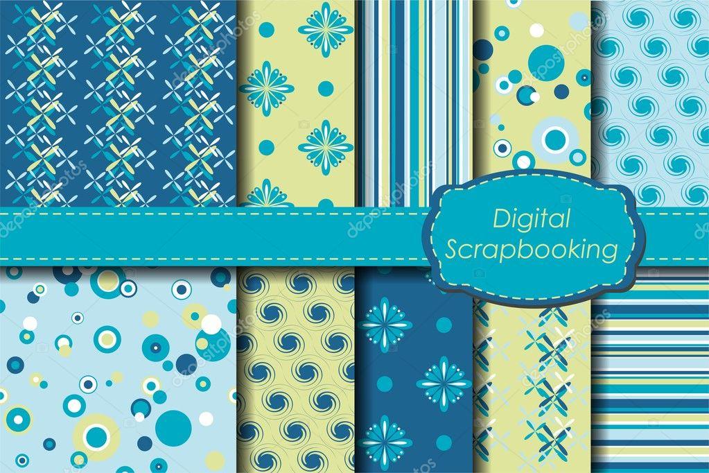 Digital scrapbooking paper set