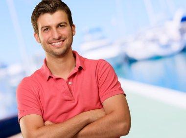 Portrait Of Happy A Man
